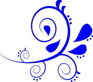 Chanel Flower Ring - blue fancy swirl clip art at clker com vector clip art
