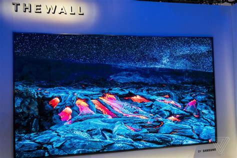 samsung wall tv samsung just unveiled a 146 inch modular tv that could surpass oled the verge