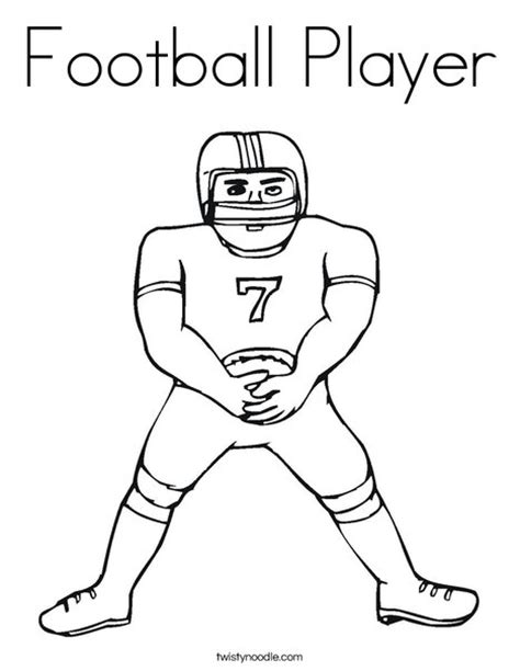 coloring pages for football players football player coloring page twisty noodle