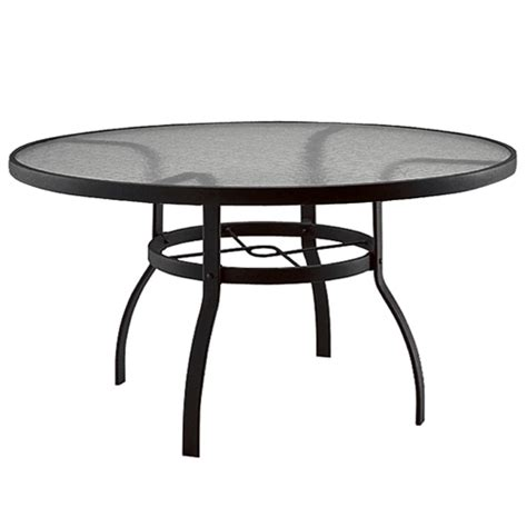 deluxe 60 inch glass top dining table woodard at