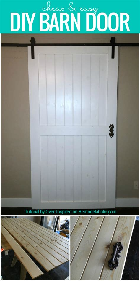 sliding barn door hardware cheap remodelaholic cheap easy diy barn door