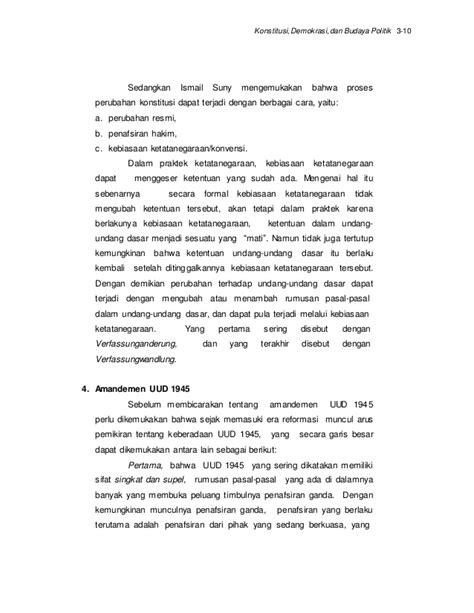 Pembagian Kekuasaan Negara Ismail Suny 1 Konstitusi Demokrasi Dan Budaya Politik