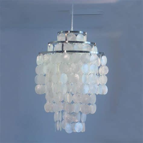 Seashell Chandelier Diy 3 Circle Diy Modern Contemporary White Seashell Capiz Pendant L Light Dia 35cm Verner Panton
