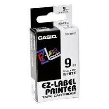 Label Cartridge Casio Ez Label 12mm genuine casio 9mm label xr 9we1 black on white