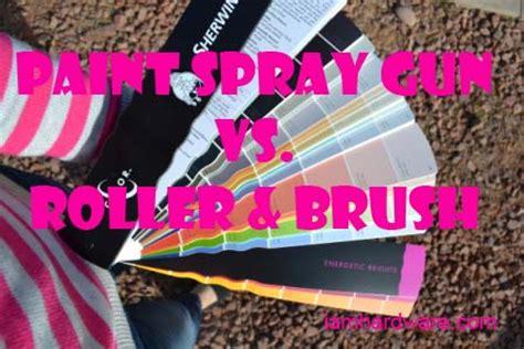 spray painting vs brush paint spray gun vs roller brush to spray or not to spray