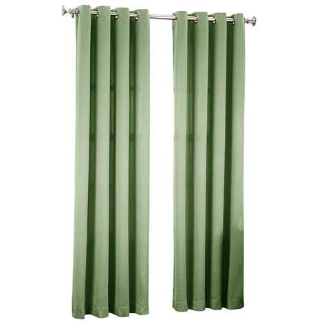 green grommet curtain panels sun zero sage green gregory room darkening grommet top