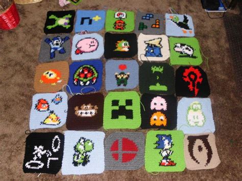 zelda afghan pattern legend of zelda crochet patterns epic gamer afghan wip