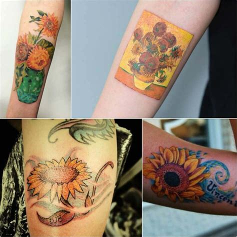 van gogh sunflower tattoo sunflower meaning popular sunflower ideas