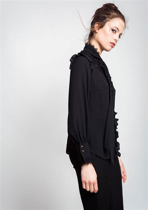 Blouse Rumbai Bow Black black blouse with bow