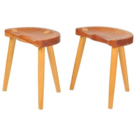handcrafted tripod studio stools by robert roakes at 1stdibs