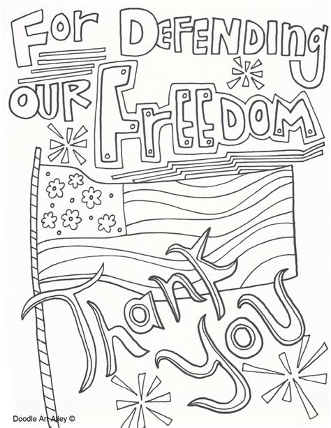 thank you for your service coloring page memorial day coloring pages doodle art alley