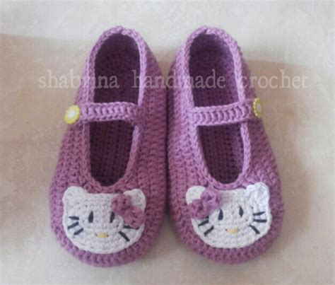 pattern sepatu rajut sepatu rajut hello kitty beautiful and simple handmade