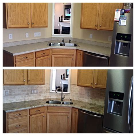 before and after updating a kitchen update before and after home decor
