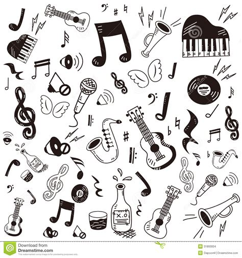 doodlebug song doodle icon set stock vector illustration of