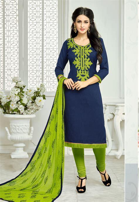 Buy Craftsvilla Navy Blue Solid Embroidered Lakda Jacquard