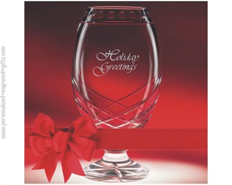 venture glass vase deep engraved for special awards and