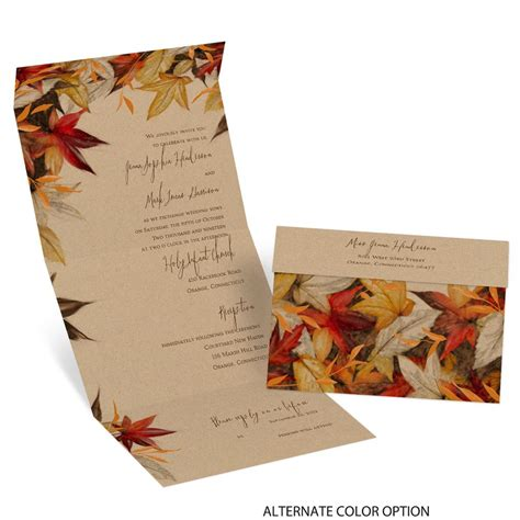 Fall Theme Wedding Invitations by Autumn Maple Seal And Send Invitation Invitations By