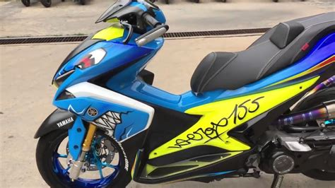 Yamaha Aerox Modifikasi by Top Modifikasi Motor Aerox Terbaru Modifikasi Motor