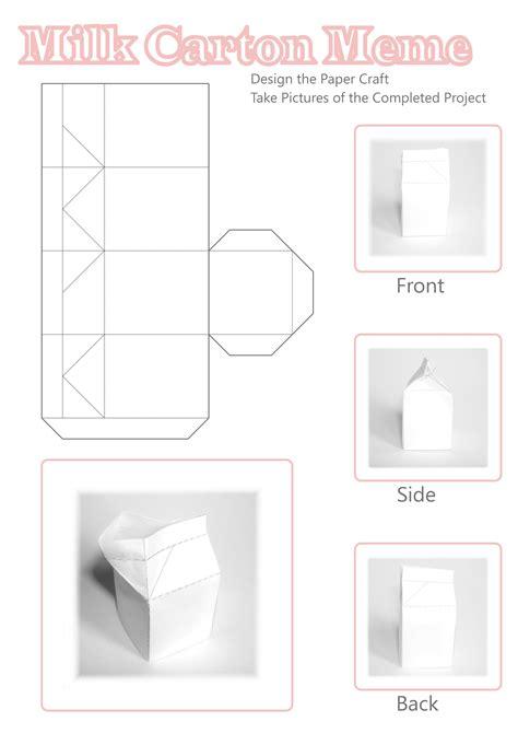 Papercraft Milk - papercraft milkcarton memeempt by smallrinilady on deviantart