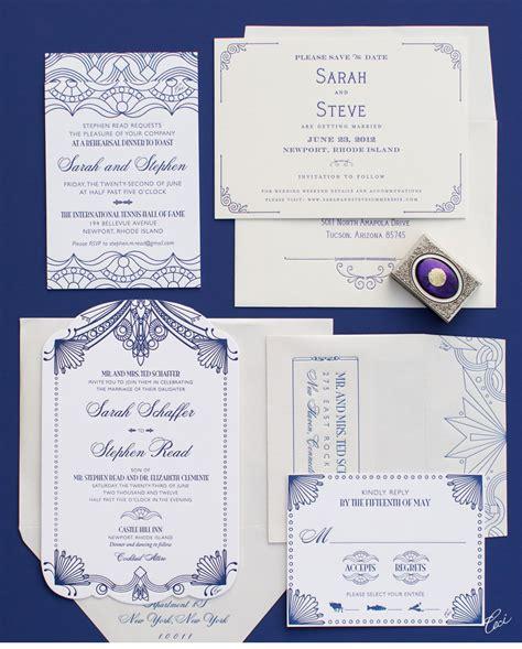 1920s style wedding invitations v146 cecistyle ceci new york