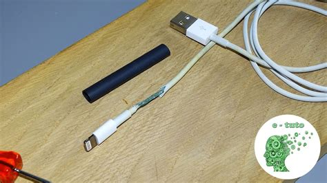 reparer  cable chargeur lightning iphoneipadipod