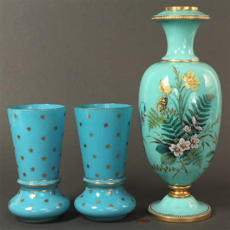 European Vases by Lot 693 Lot Of 3 European Glass Vases
