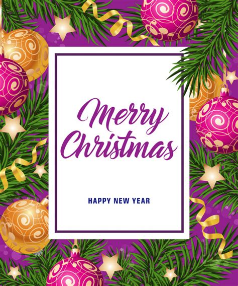vector merry christmas  happy  year card
