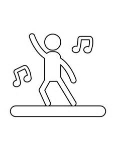 person dancing singing stencil amp coloring pages