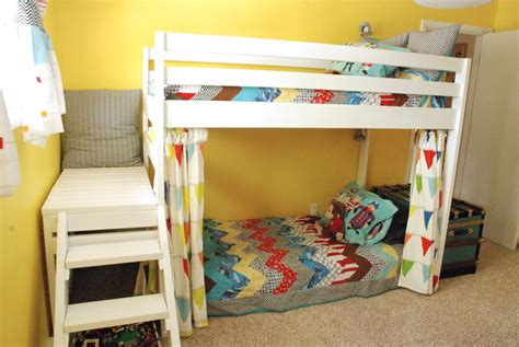 Diy Bunk Beds Diy Loft Bunk Bed With Stairs