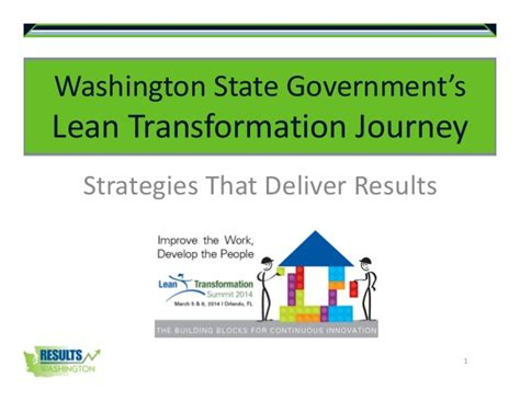 washington state government lean transformation journey