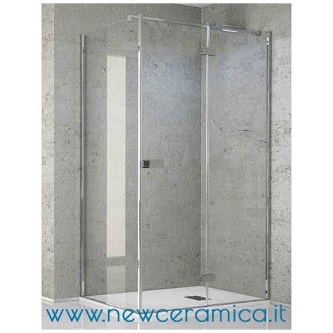 box doccia con porta battente chiusura doccia aquasteel grandform con porta