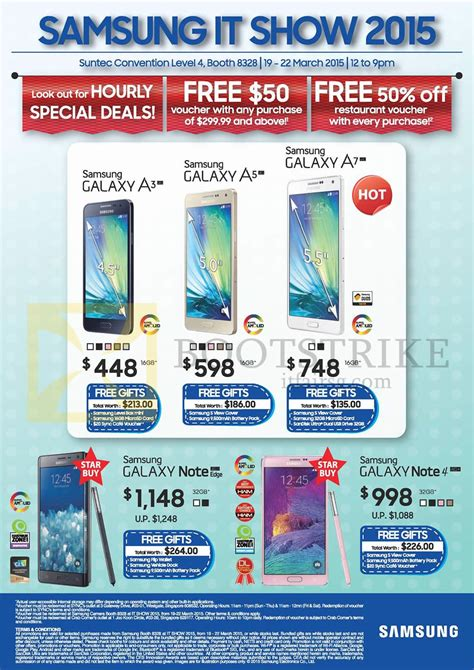 samsung galaxy note 4 price in singapore 2015 samsung mobile phones galaxy a3 a5 a7 note edge note 4 it show 2015 price list brochure