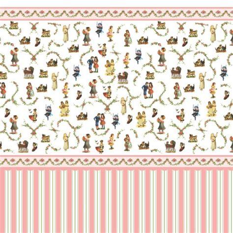 Printable Dolls House Nursery Wallpaper | victorian nursery wallpaper just one last play before