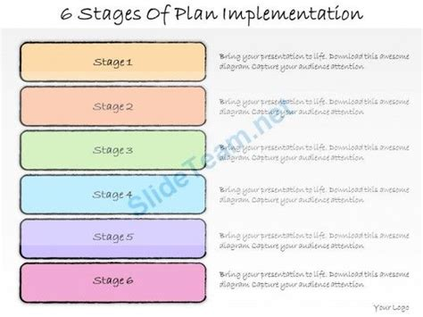 1013 Business Ppt Diagram 6 Stages Of Plan Implementation Powerpoint Template Powerpoint Implementation Plan Template Powerpoint
