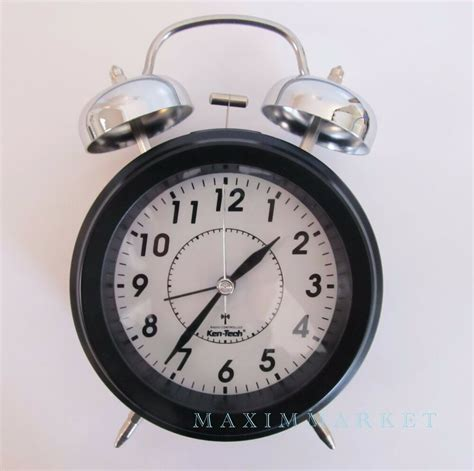 vintage atomic radio controlled clock with mechanical bell alarm ebay