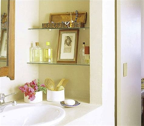 diy bathroom ideas for small spaces wall mounted book shelves