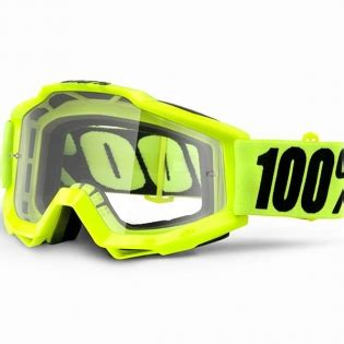 Goggle Snail Yellow Fluo 100 accuri goggles fluo yellow clear lens dirtbikexpress