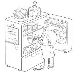Refrigerator Coloring Page sketch template