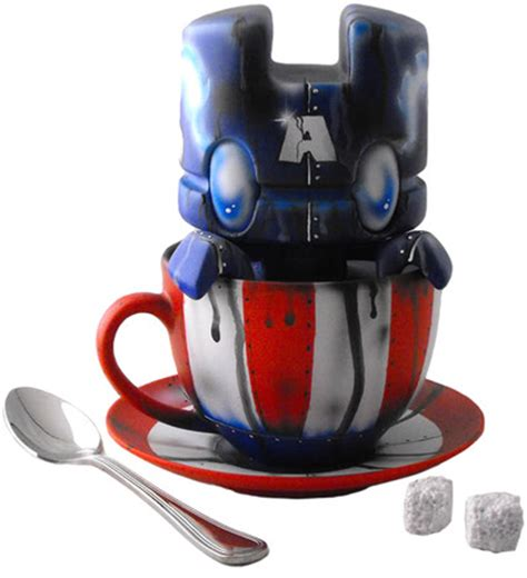 Robot Mobil Captain America robot captain america lunartik in a cup of tea by trt library