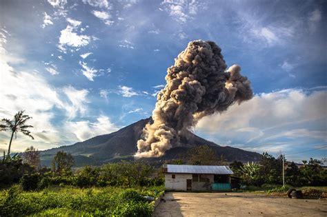 perjalanan erupsi gunung sinabung  tertidur hingga