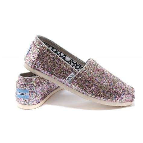 cheap toms shoes for toms shoes pink colorful glitter s classics canvas