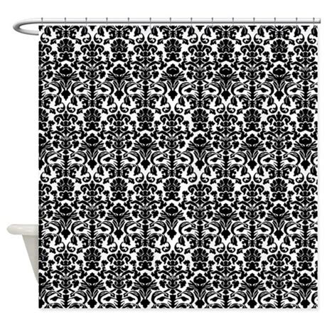 damask curtains black black damask shower curtain by inspirationzstore