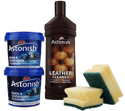 Astonish Pro Cleaning Paste Limited astonish multi purpose cleaning paste and leather cleaner kit v30977 qvc