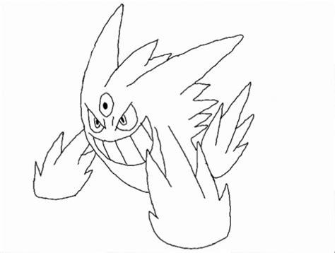 pokemon coloring pages mega gengar gengar pokemon coloring pages images pokemon images