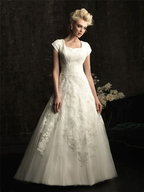 modest lace wedding dresses with sleeves a line square chapel train modest lace wedding dress with