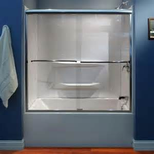 Lyons Shower Doors Lyons Industries 59 In X 59 In Semi Framed Sliding Bypass Tub Shower Door In Silver And Clear