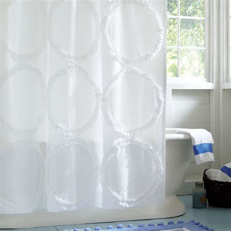 teenage bathroom shower curtains pb teen ruffle rings shower curtain decor look alikes