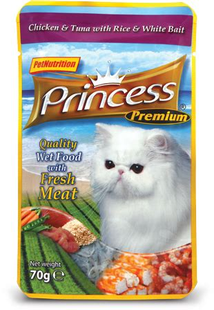 Princess Excellence 70 Gr Cat Chicken And Tuna With Rice And Salmon 1 chicken tuna w rice whitebait 70g pet princess