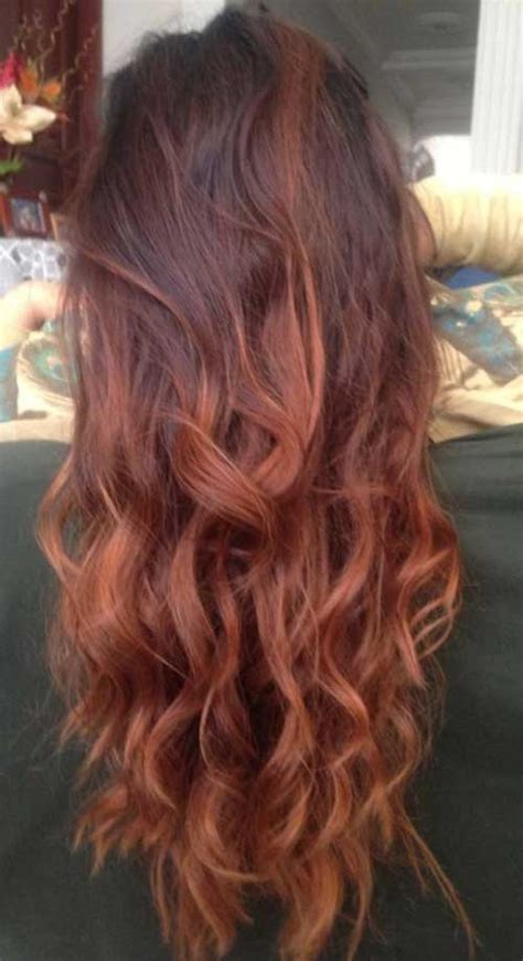 ombre hair color for hair at 50 25 best red hair color long hairstyles 2016 2017
