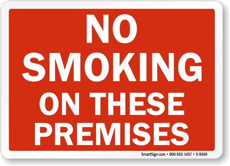 printable no smoking on premises sign printable no smoking signs free mysafetysign com